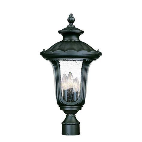 acclaim lighting augusta 3 light matte black outdoor post