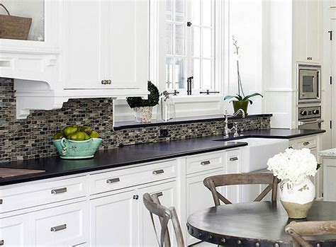 white kitchen backsplash tiles backsplash for white cabinets and black granite