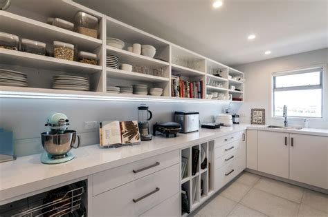 small living room decorating ideas large walk in scullery with open shelves and sink modern