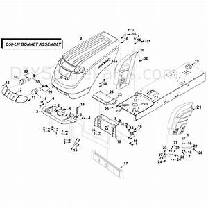Countax D50ln Lawn Tractor 2009  2009  Parts Diagram  Bonnet Assy
