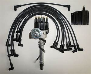 Black Sbc Chevy 350 Small Hei Distributor Spark Plug Wires