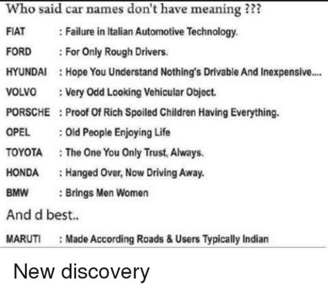 Fiat Meaning In Italian by Car Names For A White Car Future1story