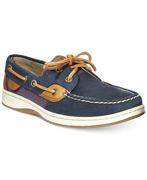 Boat Shoes Tie by Lyst Sperry Top Sider S Bluefish Tie Stripe Boat