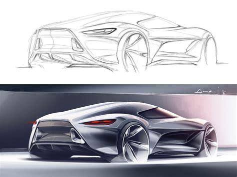 sketchover  car rendering  photoshop car body design