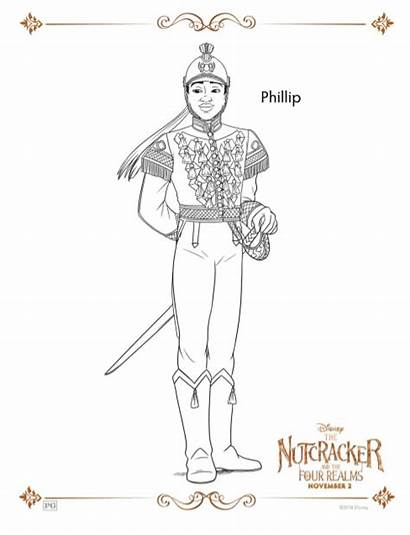 Nutcracker Coloring Realms Four Pages Sheets Activity