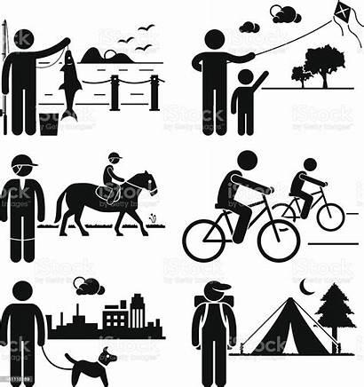 Activities Outdoor Recreational Leisure Clipart Vector Active