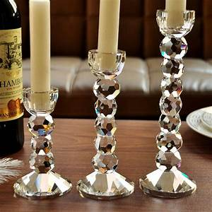 Free, Shipping, New, Design, Table, Crystal, Candle, Holder, For, Weeding, Home, Decor, Romantic, Dinner