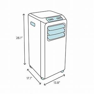 Black   Decker 14 000 Btu Portable Air Conditioner With