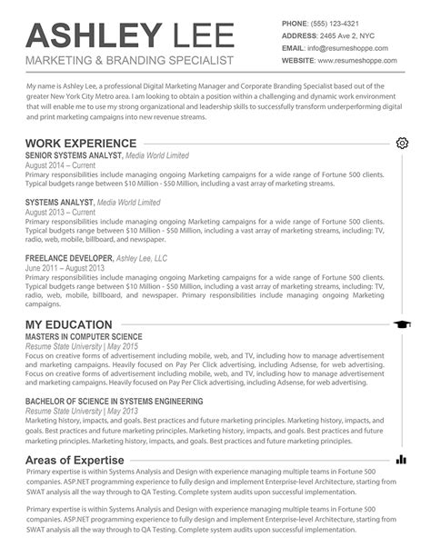 absolutely this creative resume simple yet