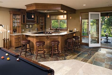 Home Bar Area by Homes With Walk Out Basements Walkout Basement Bar