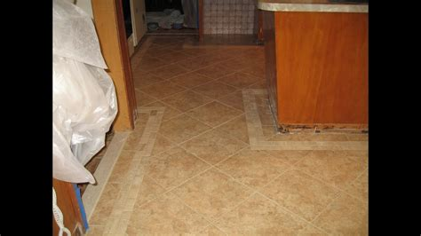 Tile Kitchen Floor With Border  Youtube