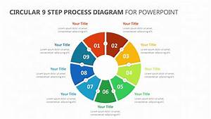 Circular 9 Step Process Diagram For Powerpoint