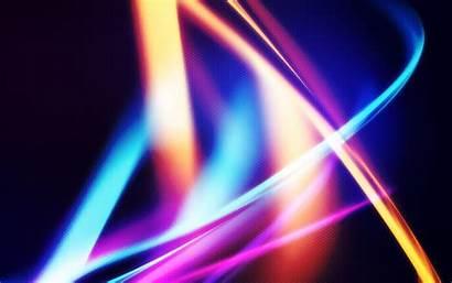Neon Abstract Circle Laser Reflection Computer Shape