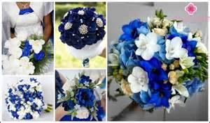 blaue blumen hochzeit blau brautstrauß wie zu wählen und die hochzeitsblumen kombinieren foto