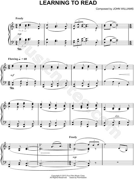 """""""Learning To Read"""" from 'The Book Thief' Sheet Music"""