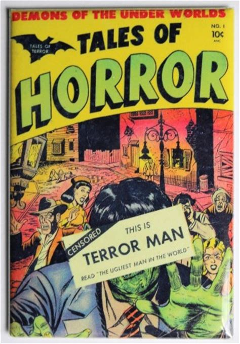 Tales of Horror No 1 Terror Man FRIDGE MAGNET Monster