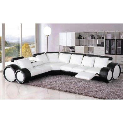 canapé ultra design canapé d angle réversible en cuir ultra design blanc et