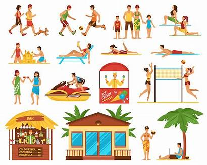 Activities Beach Vector Icons Activity Decorative Icon
