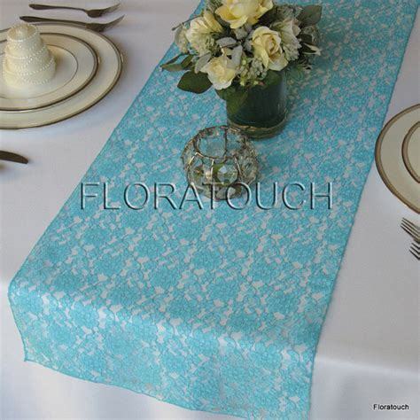 tiffany blue table runner tiffany blue lace wedding table runner by floratouch on etsy