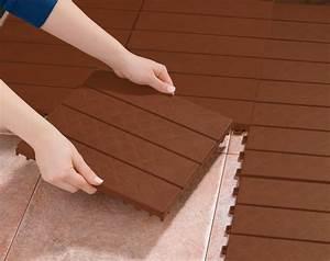 Kunststoff Fliesen Balkon : bodenfliesenstecksystem holzfarben balkon fliesen bodenbelag terrasse kaufen bei in trading ~ Sanjose-hotels-ca.com Haus und Dekorationen