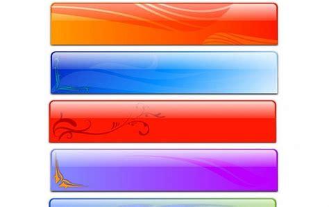 vector glass header designs fancy vector