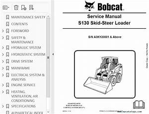 Bobcat S130 Skid Steer Loader Service Manual Pdf