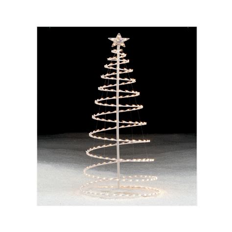 trim  home lighted clear spiral christmas tree  ft