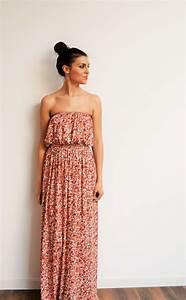 maxi robe longue liberty bustier en jersey tendance ete With robe liberty femme
