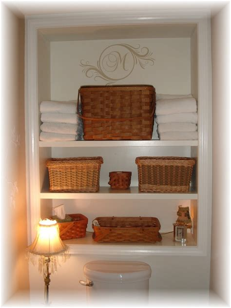 inspiring built  bathroom shelving  toilet storage
