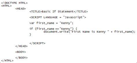 javascript if statements