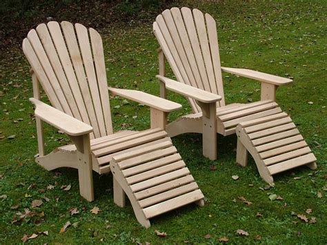 classic adirondack chair in oak made in the uk by