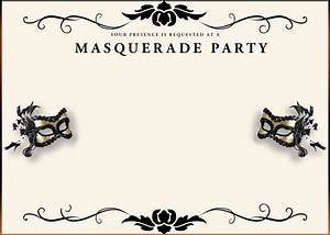 Free printable masquerade invitation templates for Masquerade invitations templates free