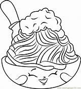 Spaghetti Coloring Shopkins Netti Meatballs Template Printable Getcolorings Coloringpages101 Sketch sketch template