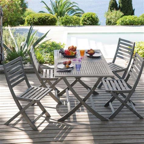 maison du monde st malo table pliante de jardin en acacia l 130 cm malo maisons du monde