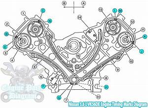 Nissan Titan Timing Chain Marks  5 6 L Vk56de V8 Engine