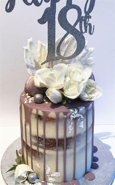 purple drip cake  birthday cakes antonias cakes st