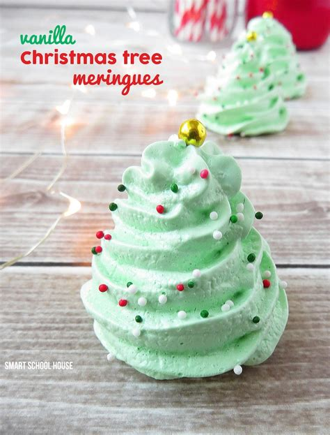 christmas recipe christmas tree meringues