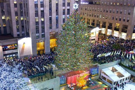 nyc tree lighting 2016 2016 rockefeller center christmas tree lighting at