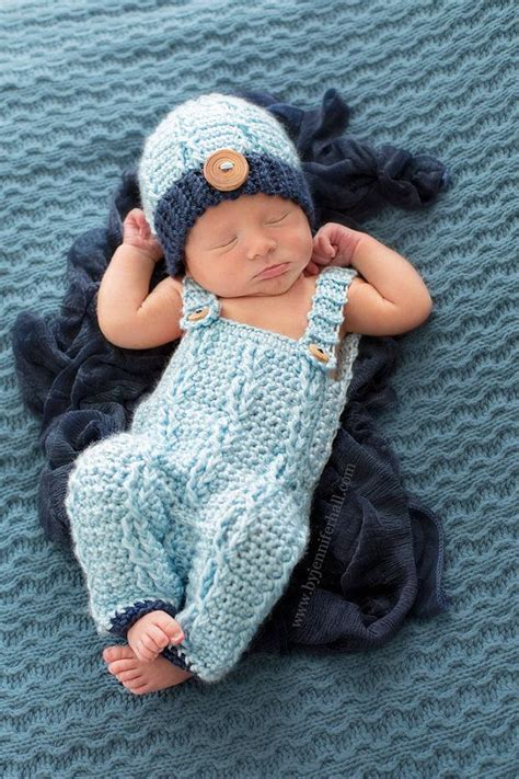 Baby outfit - Baby Overalls and beanie - Crochet baby boy outfit - Baby Photo Prop on Etsy $50 ...