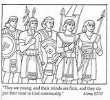 Coloring Warriors Pages Primary Lesson Lds Stripling Mormon Honest Honesty 2000 Helaman Living Sunbeam Friend Could Happy Parents Fhe Lessons sketch template