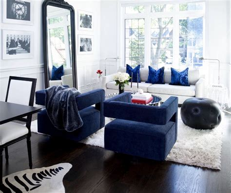 Living Room With Blue Decor by Blue Living Room Blue Swivel Chair Restoration Hardware