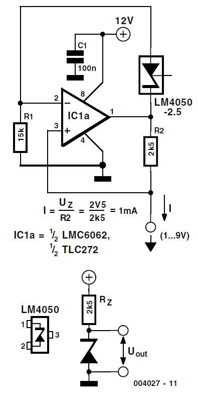 Voltage Reference For Battery Powered Circuits Schematic