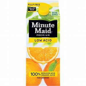 Minute Maid Premium Low Acid Pulp Free Orange Juice, 59 fl ...