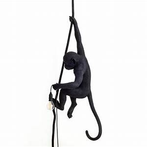 Seletti Monkey Lamp : monkey lamp with ceiling rope black design casa ~ Buech-reservation.com Haus und Dekorationen