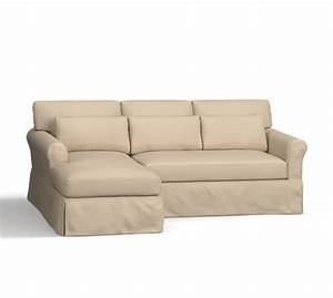york roll arm deep seat slipcovered chaise sofa sectional With pottery barn deep sectional sofa