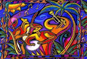 Latin Music Painting by Leon Zernitsky