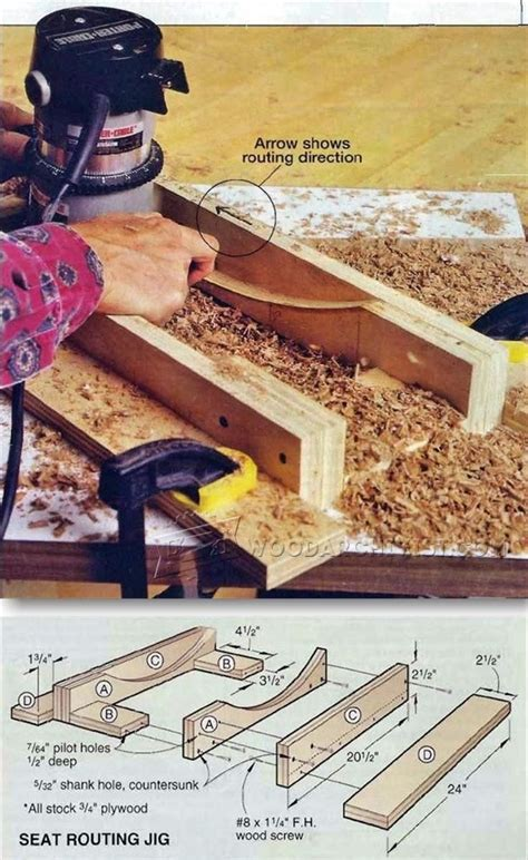 seat scooping jig woodworking tips  techniques