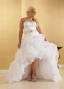 High low wedding dresses dressed up girl for Plus size high low wedding dresses