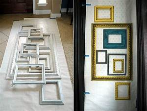 Diy layered frame gallery wall