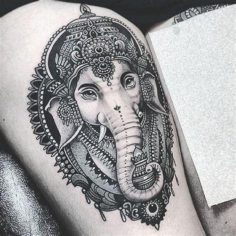 ideas  indian elephant tattoos  pinterest